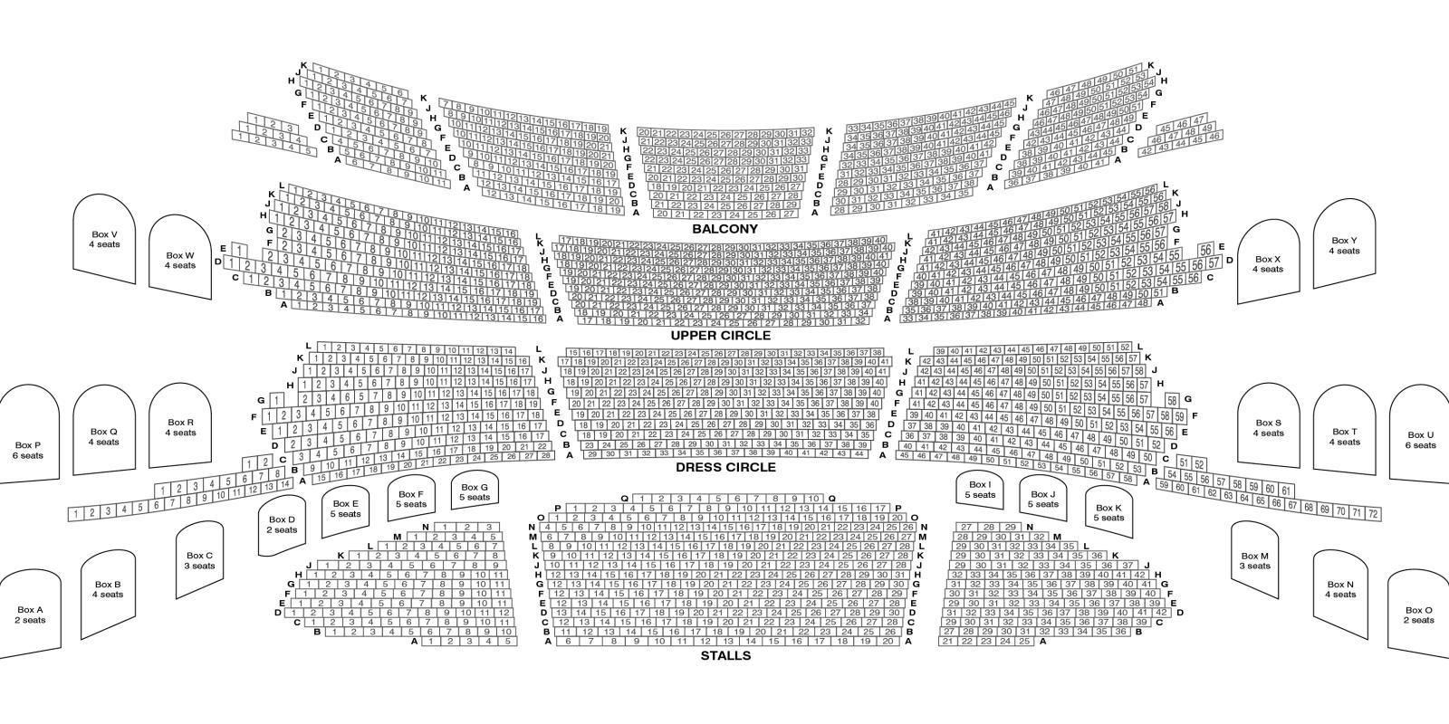 London Coliseum ENO seating plan