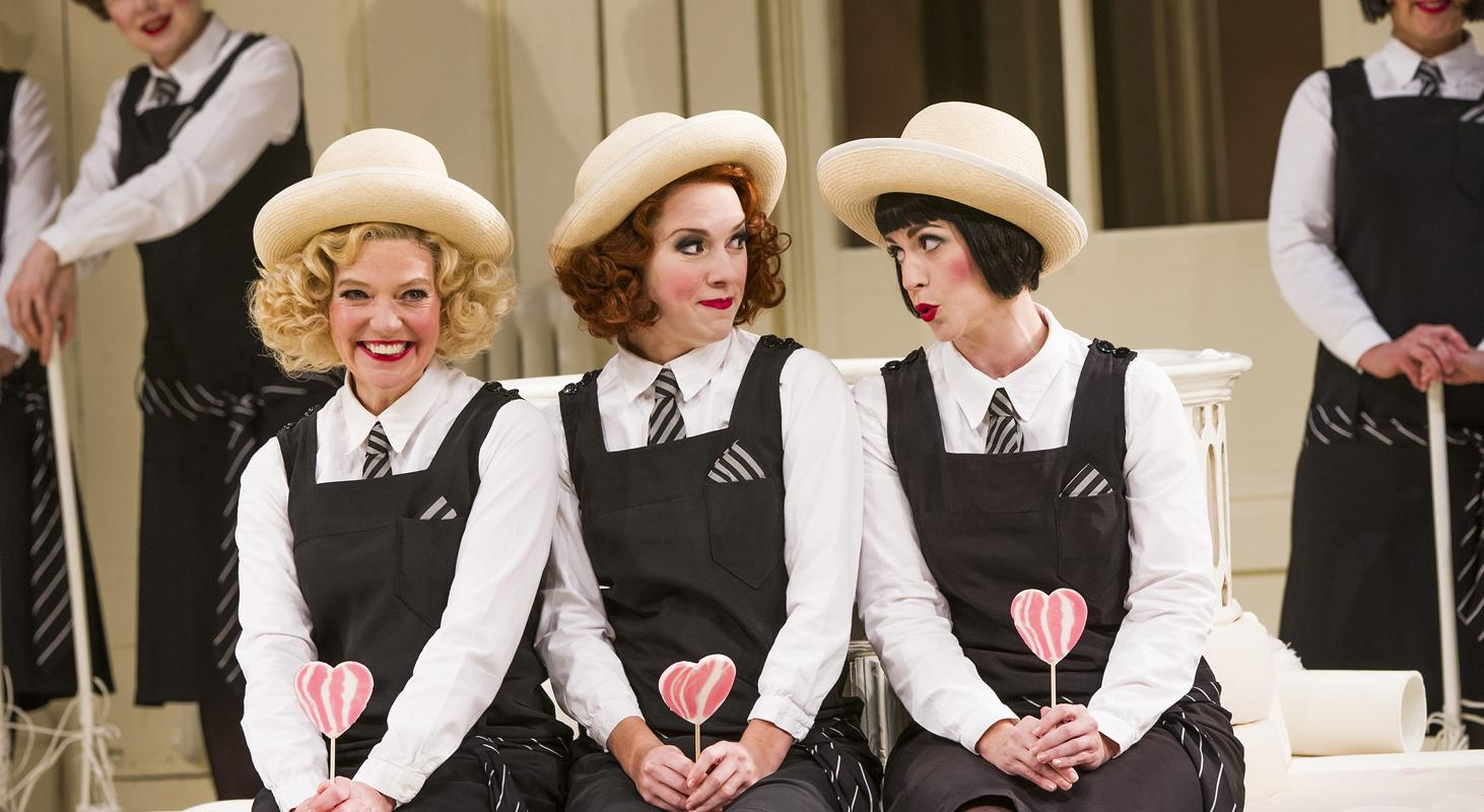 ENO'sThe Mikado Fiona Canfield, Mary Bevan and Rachael Lloyd 1 (c) Tristram Kenton