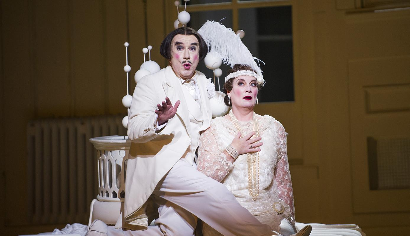 ENO's The Mikado Richard Suart and Yvonne Howard (c) Tristram Kenton