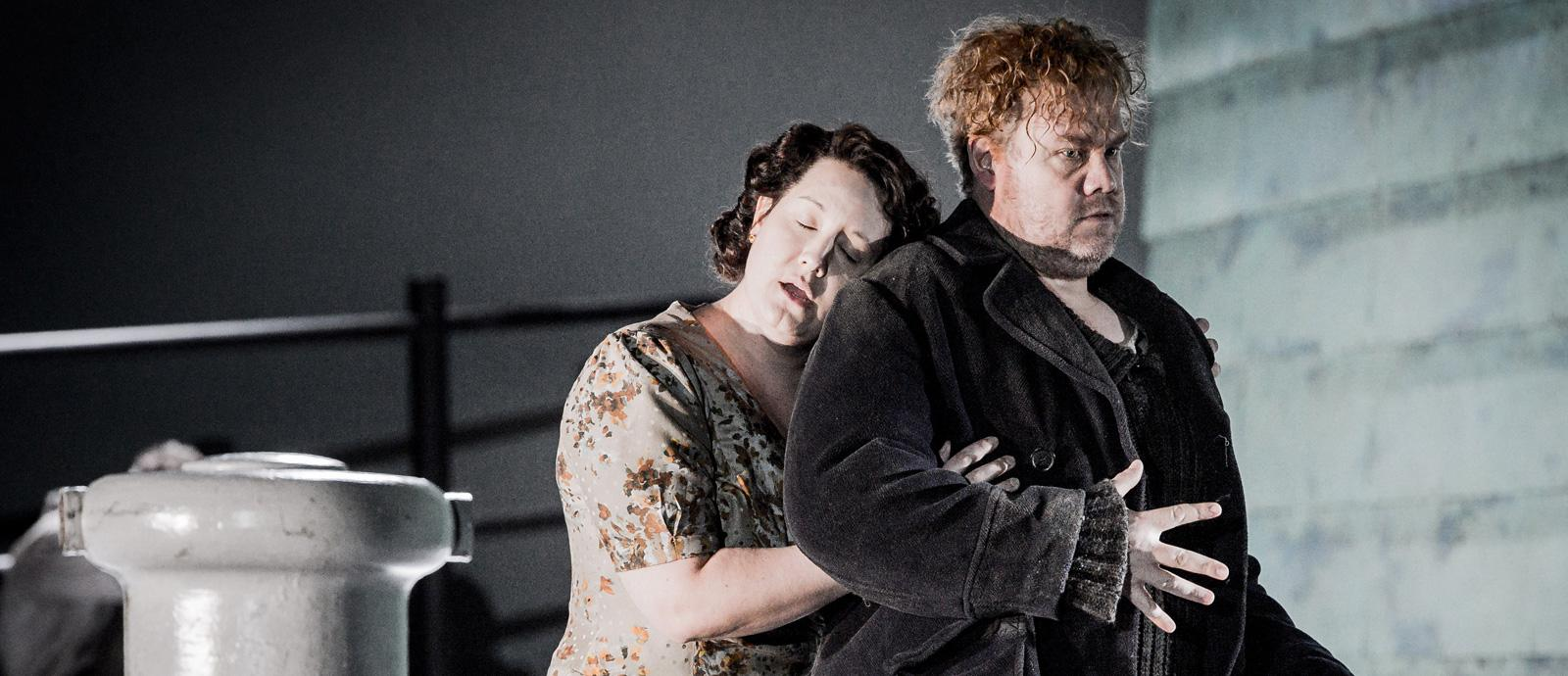 ENO's Peter Grimes - Elza Van Den Heever as Ellen Orford and Stuart Skelton as Peter Grimes. Photo by Robert Workman