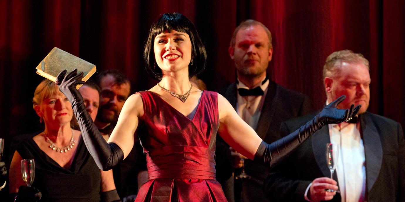 ENO's La traviata - Elizabeth Zharoff as Violetta. Photo by Donald Cooper.