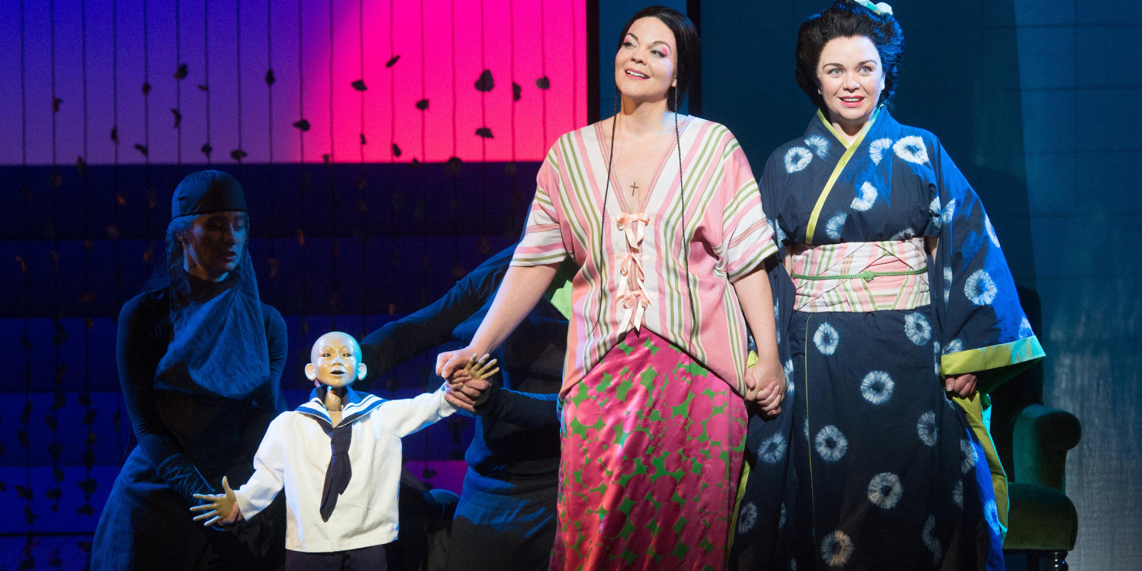 ENO Madam Butterfly Sorrow with Rena Harms and Stephanie Windsor-Lewis (c) Tom Bowles