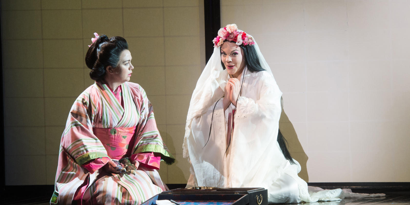 ENO Madam Butterfly Stephanie Windsor-Lewis and Rena Harms (c) Tom Bowles