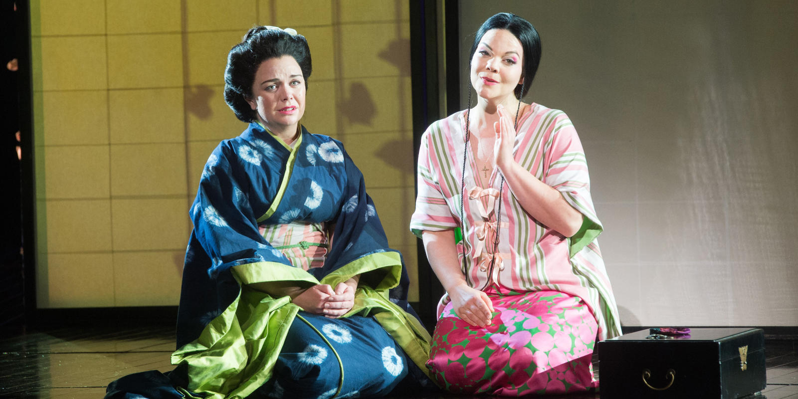 ENO Madam Butterfly Stephanie Windsor-Lewis and Rena Harms 1 (c) Tom Bowles