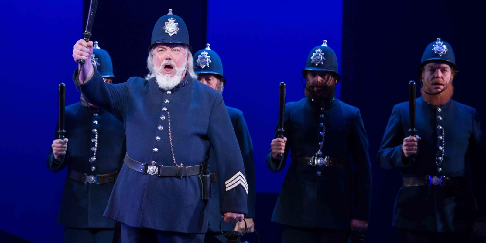 ENO's The Pirates of Penzance - John Tomlinson as Sergeant of Police. Photo by Tom Bowles