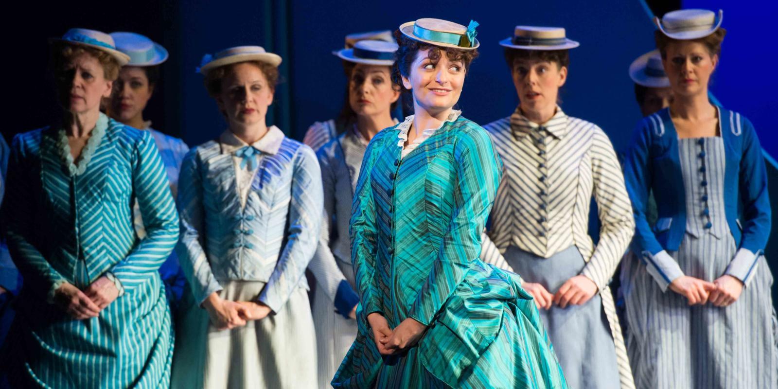 ENO's The Pirates of Penzance - Soraya Mafi as Mabel and ENO Chorus. Photo by Tom Bowles