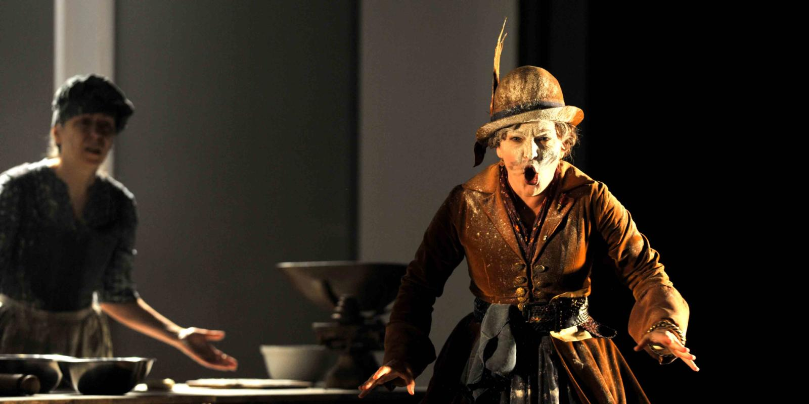 An image of Lucy Schaufer in Fiona Shaw's 2014 production of The Marriage of Figaro