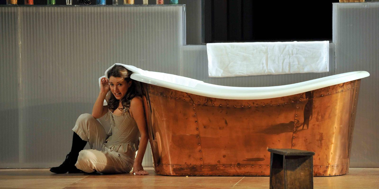 An image of Mary Bevan in Fiona Shaw's 2014 production of The Marriage of Figaro