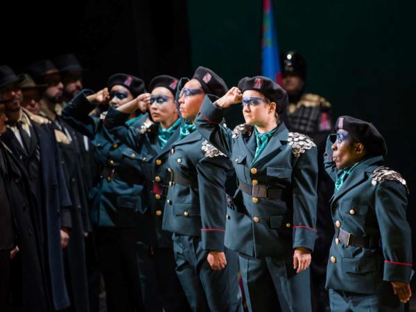 ENO Aida: members of Mimbre (c) Tristram Kenton