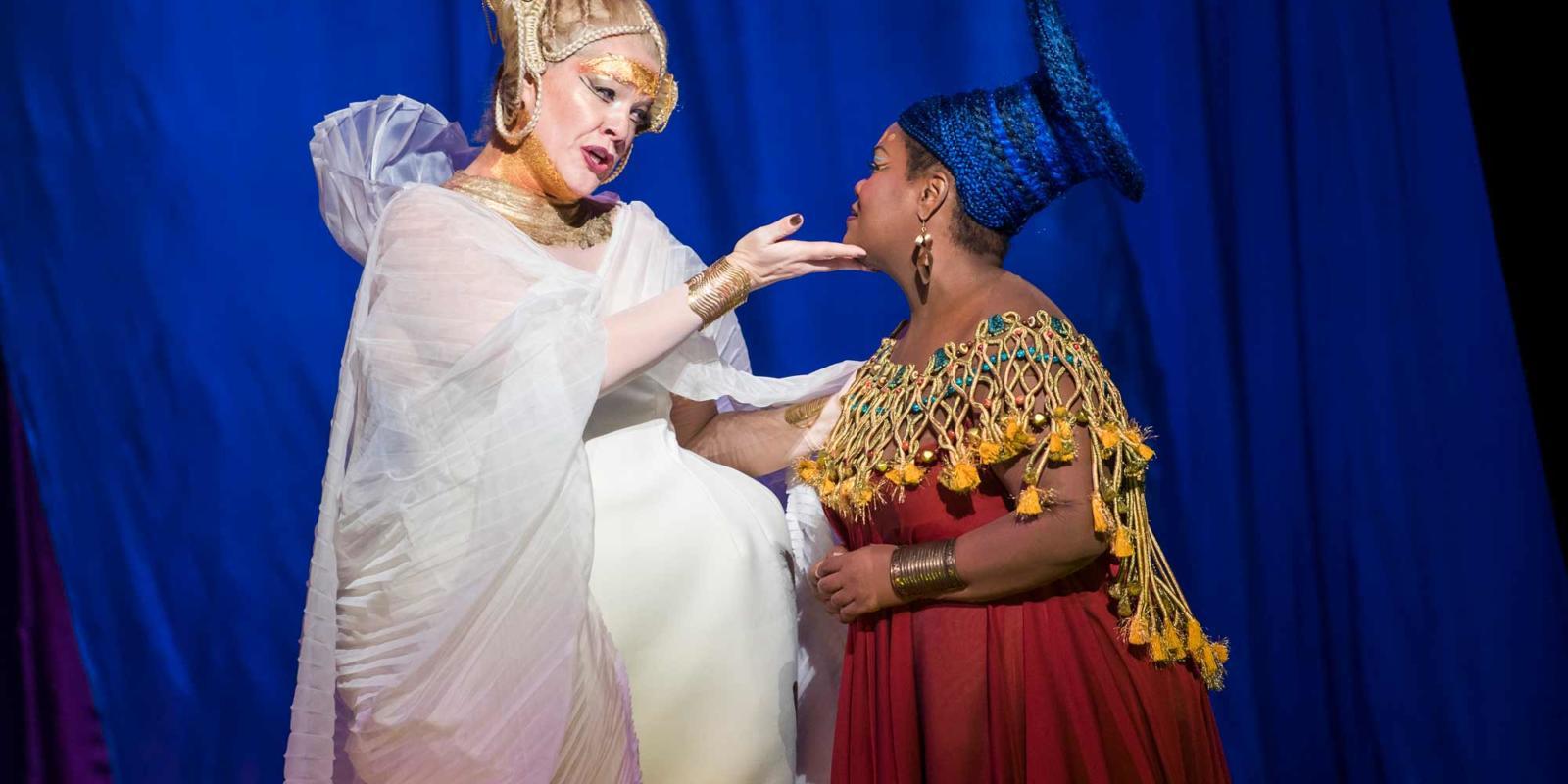 ENO Aida: Michelle DeYoung and Latonia Moore (c) Tristram Kenton.