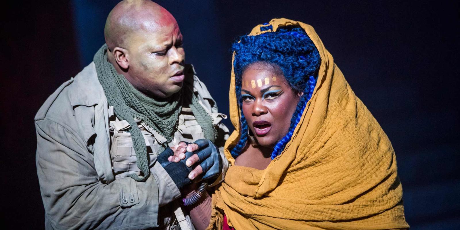 ENO Aida: Musa Ngqungwan and-Latonia Moore (c) Tristram Kenton