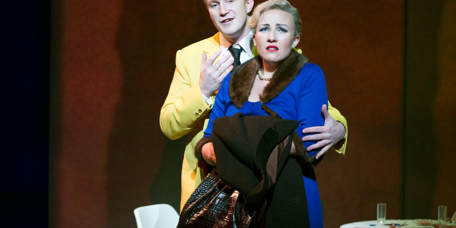 James Laing and Sasha Cooke singing together on stage (c) Richard Hubert Smith