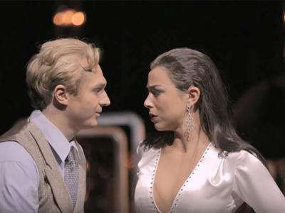 Screenshot from ENO production trailer of Verdi's La traviata