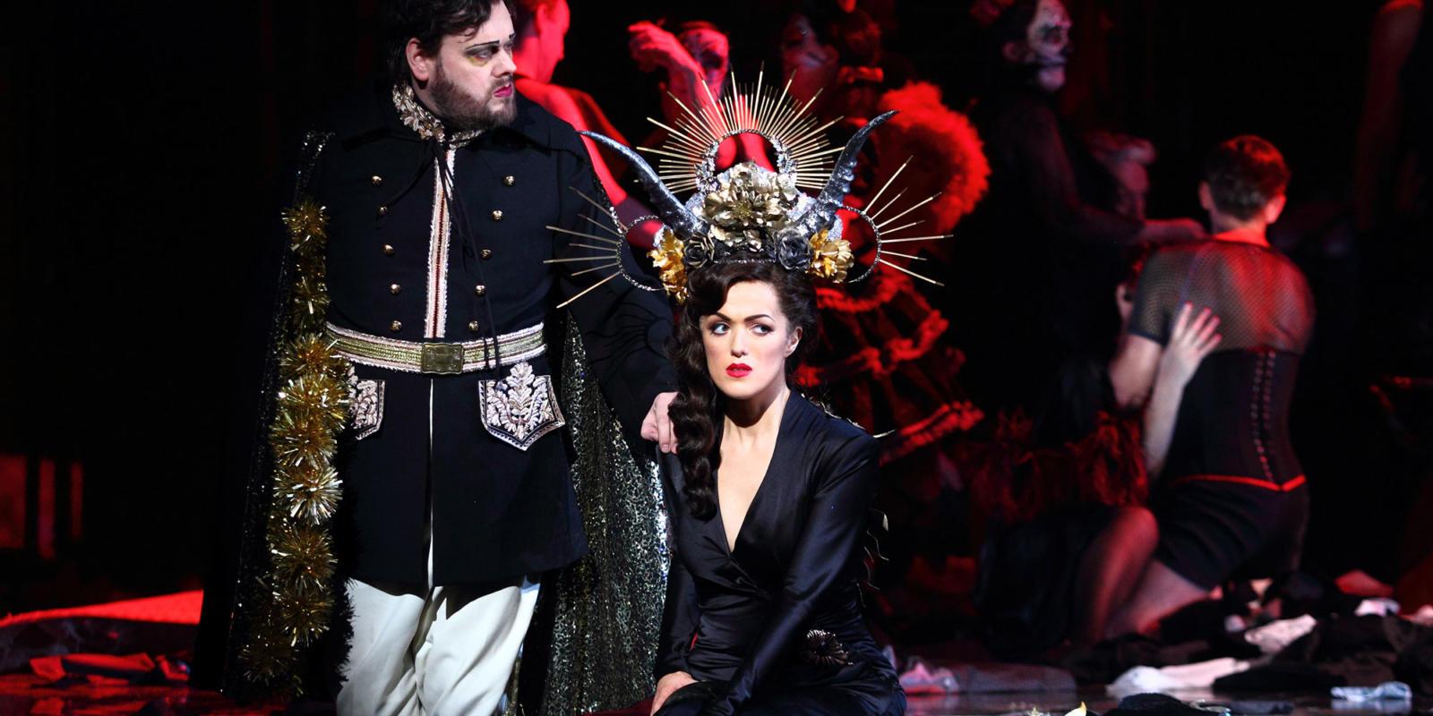 ENO Traviata Benjamin Bevan, Claudia Boyle (c) Catherine Ashmore