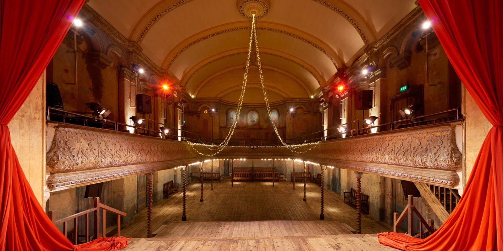 Wilton's music hall view from stage (c) Peter Dazeley