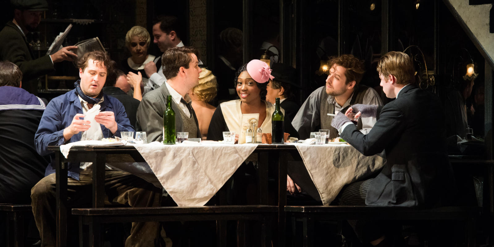 ENO La boheme George von Bergen David Butt Philip Angel Blue George Humphreys Barnaby Rea (c) Thomas Bowles