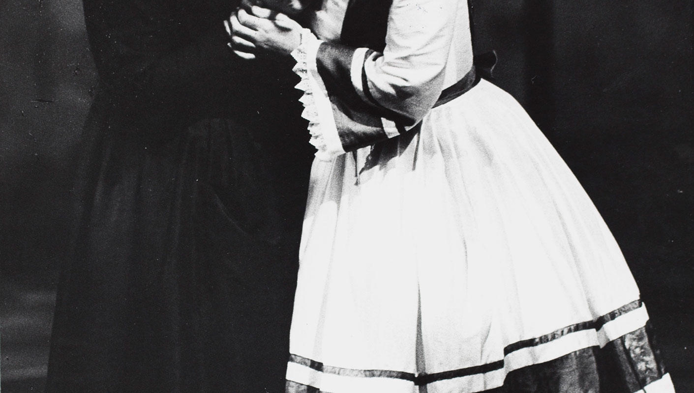 ENO The Turn of the Screw 1979: Ava June as Mrs Grose and Iris Saunders as Flora. With thanks to Gareth Roberts.