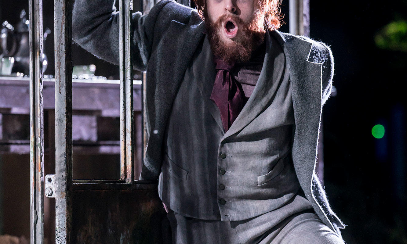 ENO 2017/18 The Turn of the Screw: Elgan Llyr Thomas as Peter Quint. Photo Johan Persson.