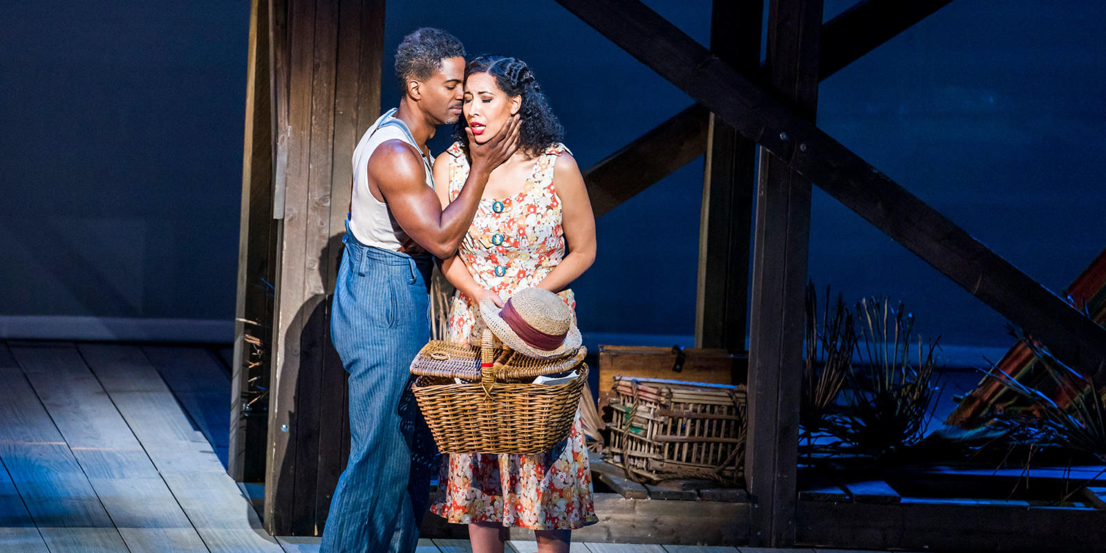 ENO Porgy and Bess: Nmon Ford as Crown Nicole Cabell as Bess (c) Tristram Kenton