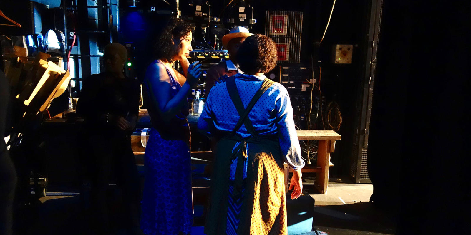 Nicole Cabell (Bess) waits in the wings for her curtain call