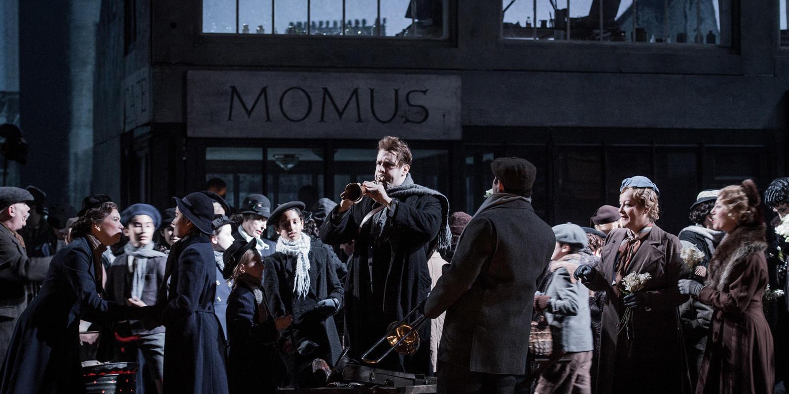 ENO La bohème: Bozidar Smiljanic and cast (c) Robert Workman