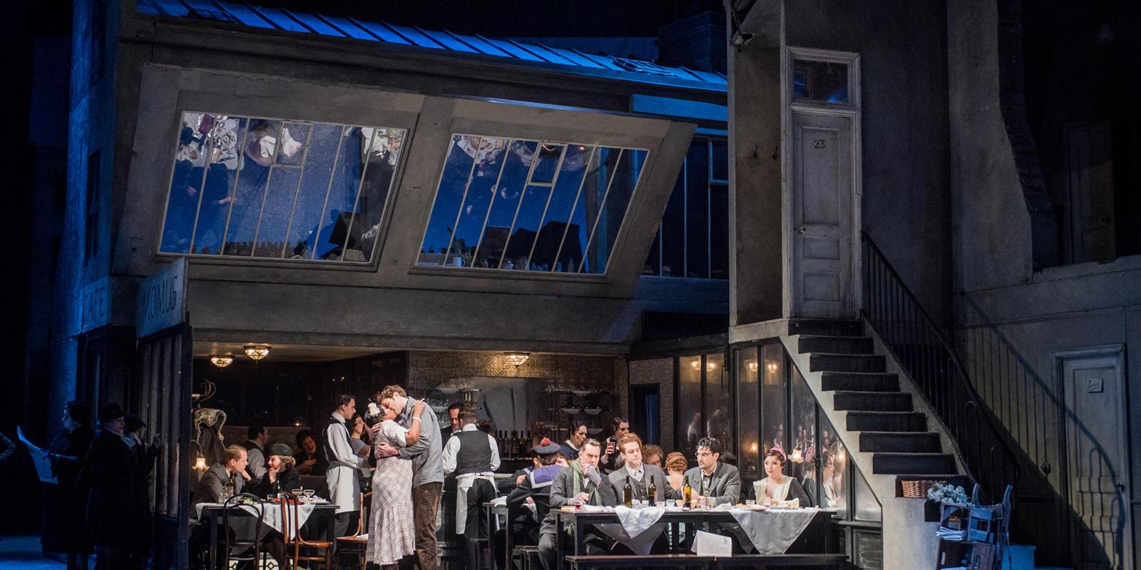 ENO La bohème: cast (c) Robert Workman