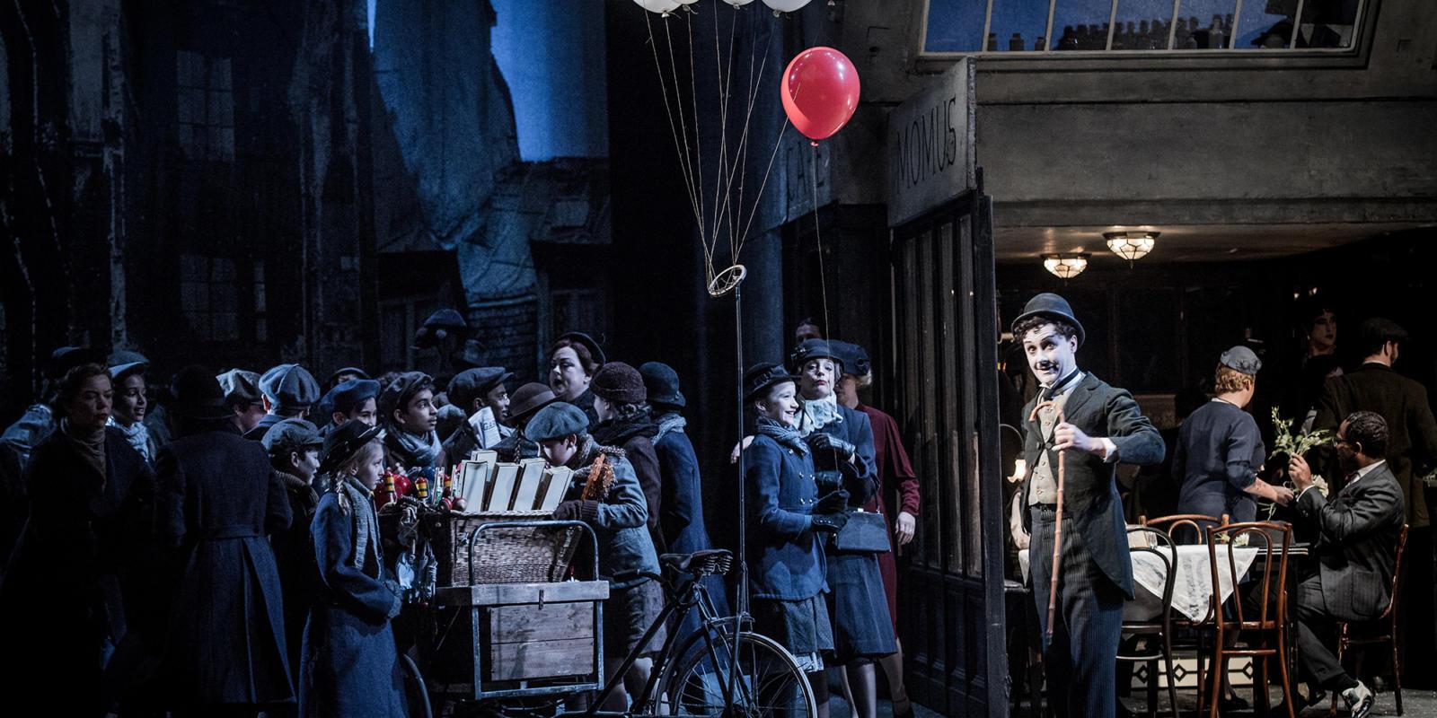 ENO La bohème: David Newman and cast (c) Robert Workman