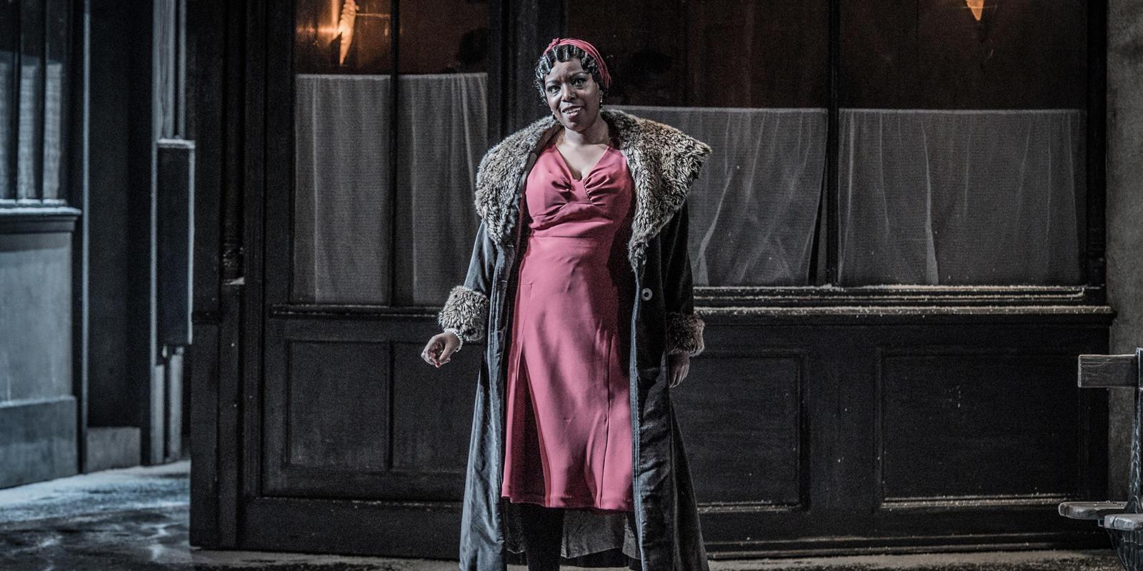 ENO La bohème: Nadine Benjamin as Musetta (c) Robert Workman