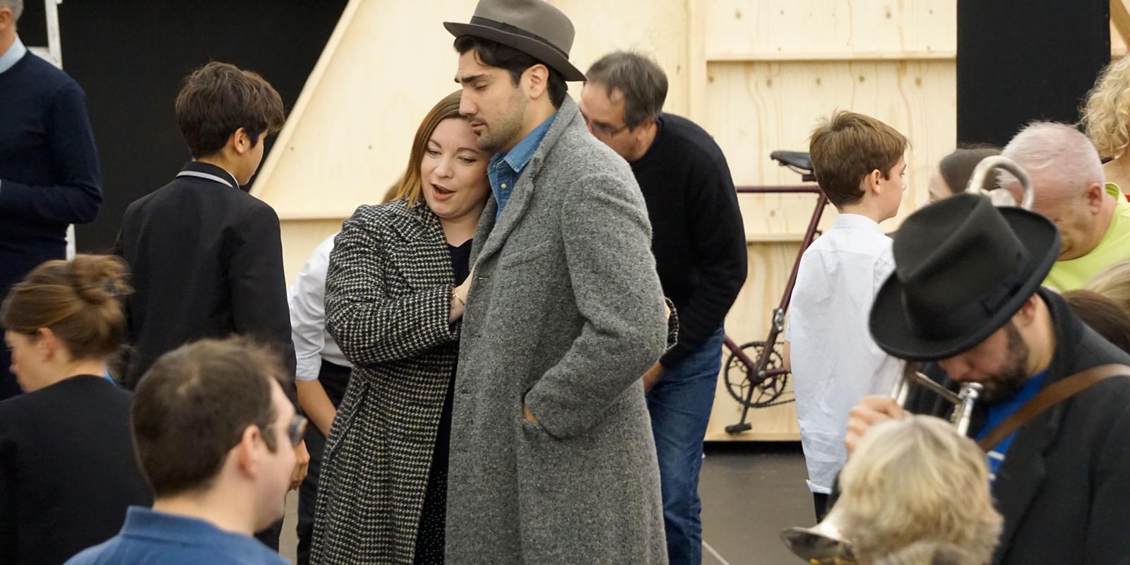 ENO La bohème rehearsals: Natalya Romaniw Jonathan Tetelman