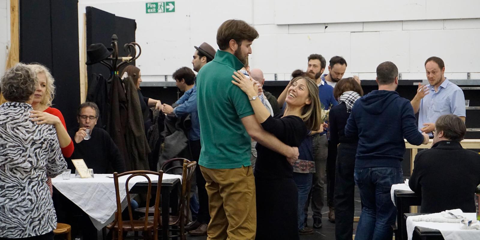 ENO La bohème rehearsals: Nicholas Lester Lydia Marcione