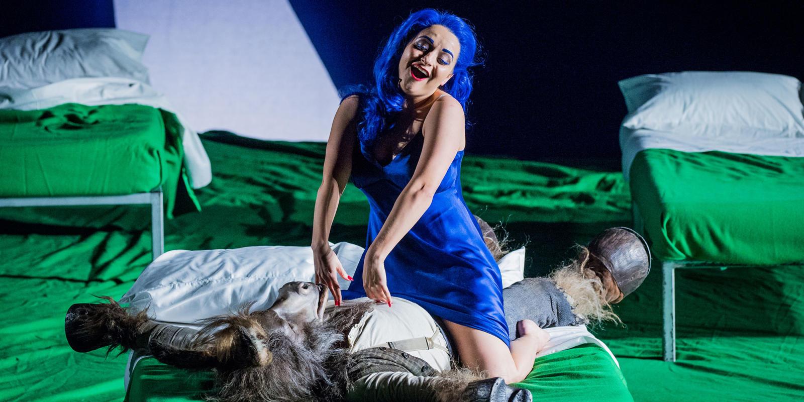 Soraya Mafi as Tytania in our 2017/18 season production of Britten's A Midsummer Night's Dream.
