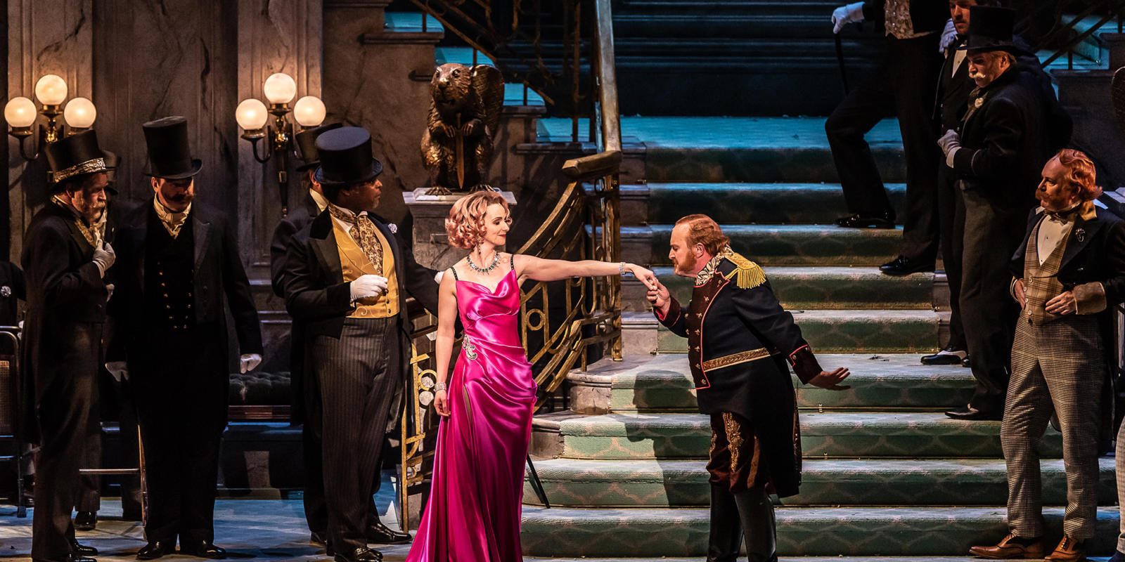 ENO The Merry Widow: Sarah Tynan; Andrew Shore © Clive Barda