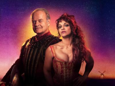 Kelsey Grammer and Danielle de Niese in costume for Man of La Mancha