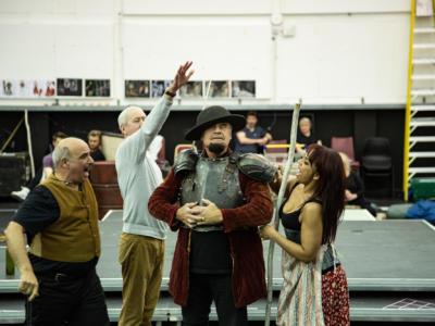 Man of La Mancha: Peter Polycarpou Nicholas Lyndhurst Kelsey Grammer and Danielle de Niese