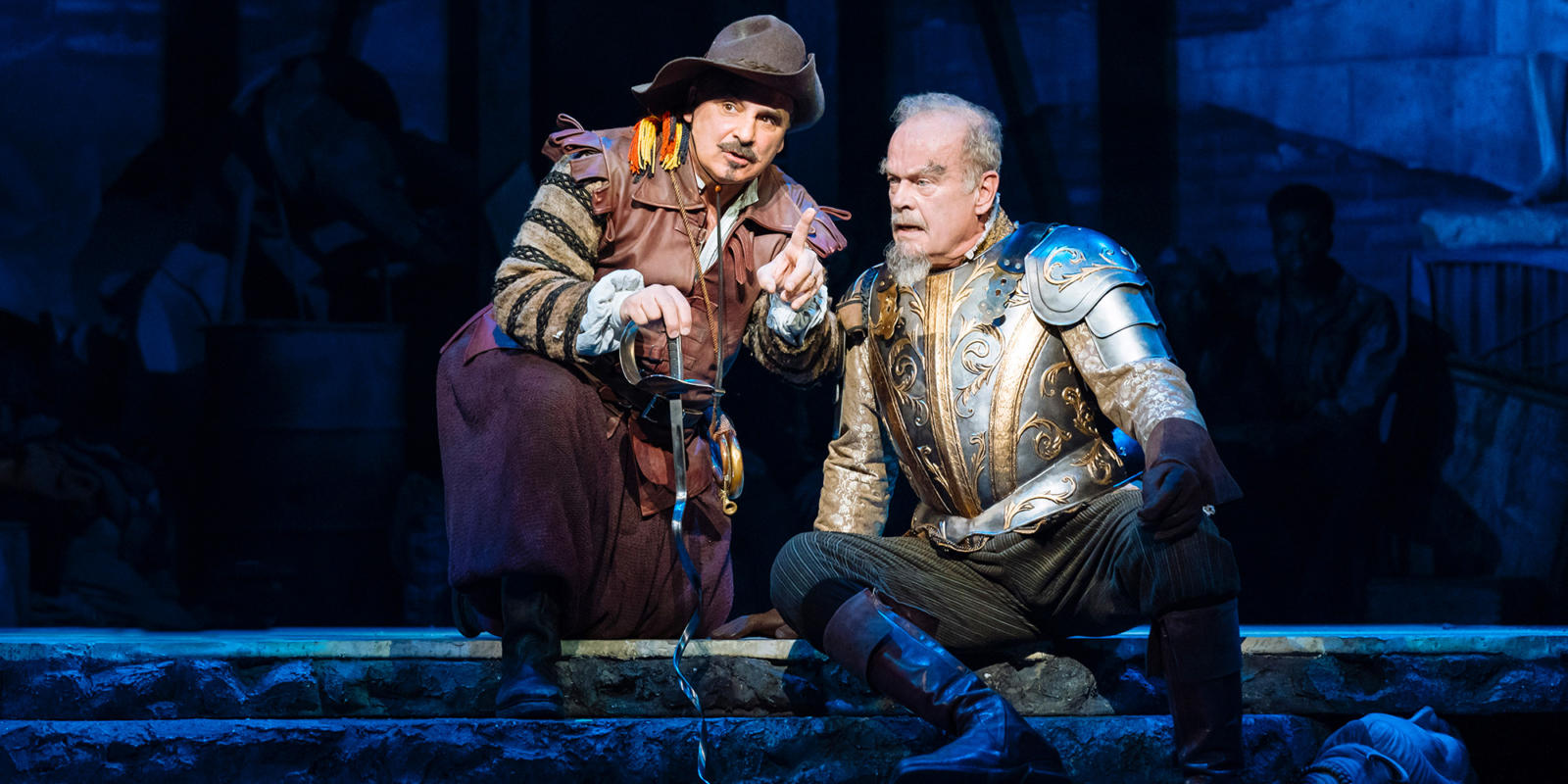 Man of La Mancha: Peter Polycarpou and Kelsey Grammer