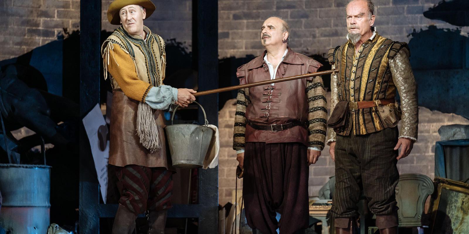Man of La Mancha: Nicholas Lyndhurst, Peter Polycarpou and Kelsey Grammer