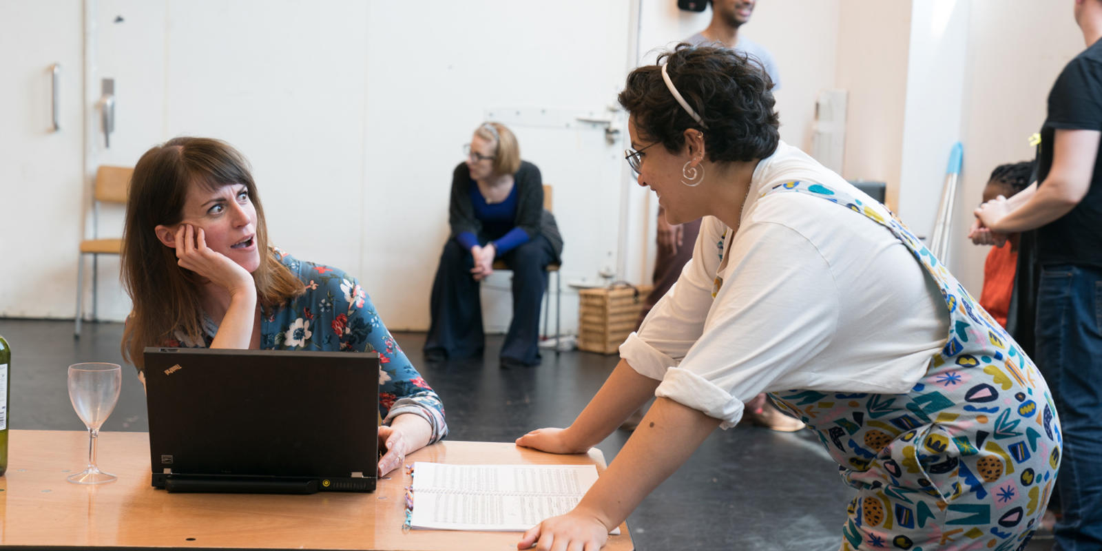 Rachael Lloyd, Eyra Norman. Dido at Unicorn Theatre. (c) Craig Sugden
