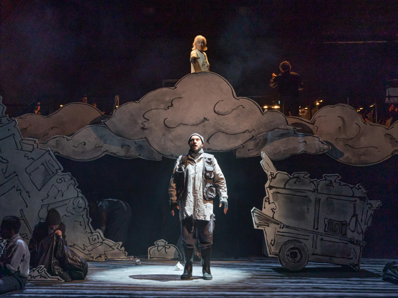 Marcus Farnsworth (Noah) in Noye's Fludde at Theatre Royal Stratford East. Photo by Marc Brenner