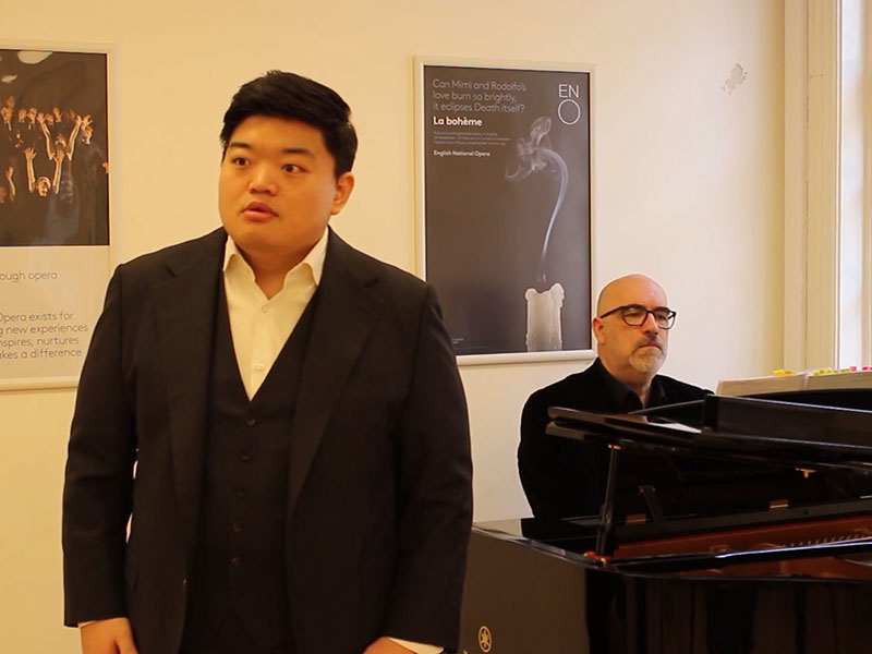 'Stars sparkled in the evening air' from Verdi's Luisa Miller, performed by David Junghoon Kim, directed by Barbora Horáková at English National Opera.